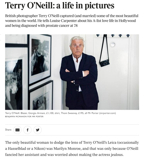 The Times - Terry O'Neill at Ransom Art