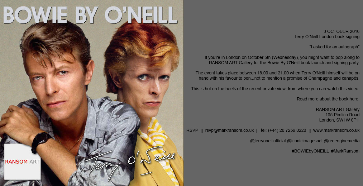 davidbowie.com - BOWIE BY O'NEILL Exhibition at Ransom Art