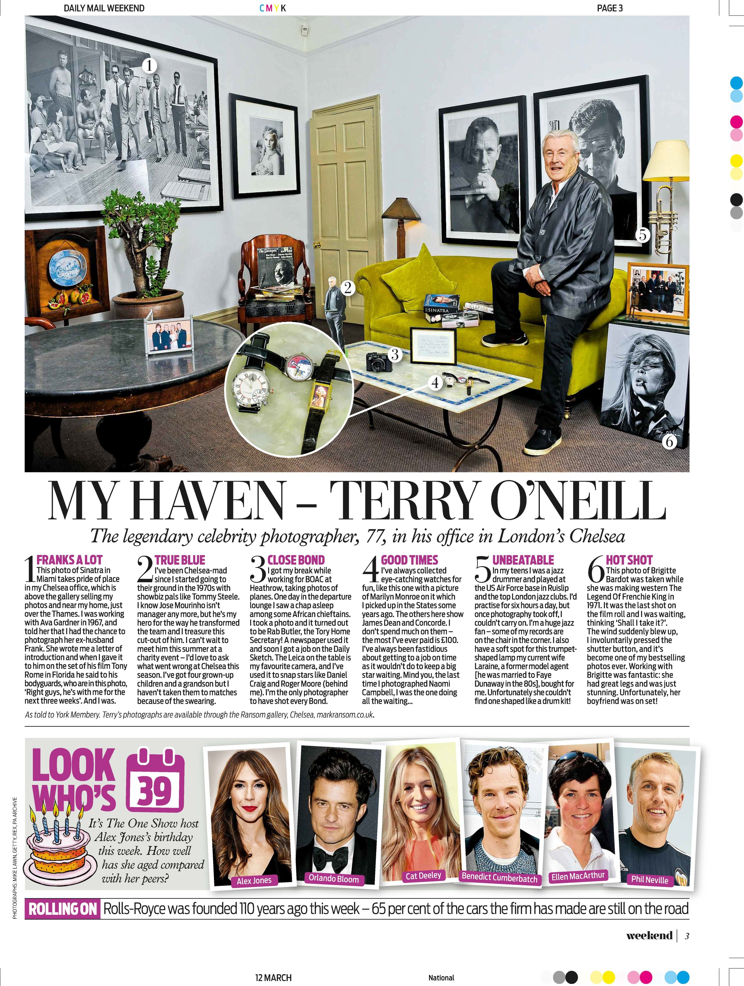 DAILY MAIL - Terry O'Neill at Ransom Art