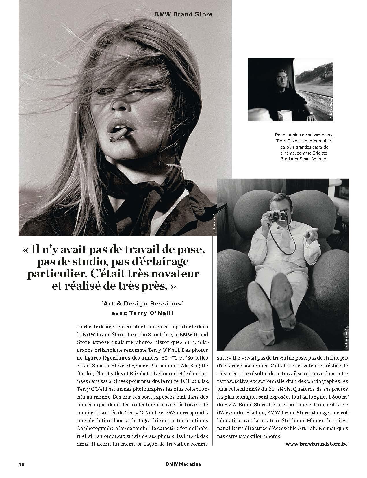 BMW Magazine - Terry O'Neill at Ransom Art