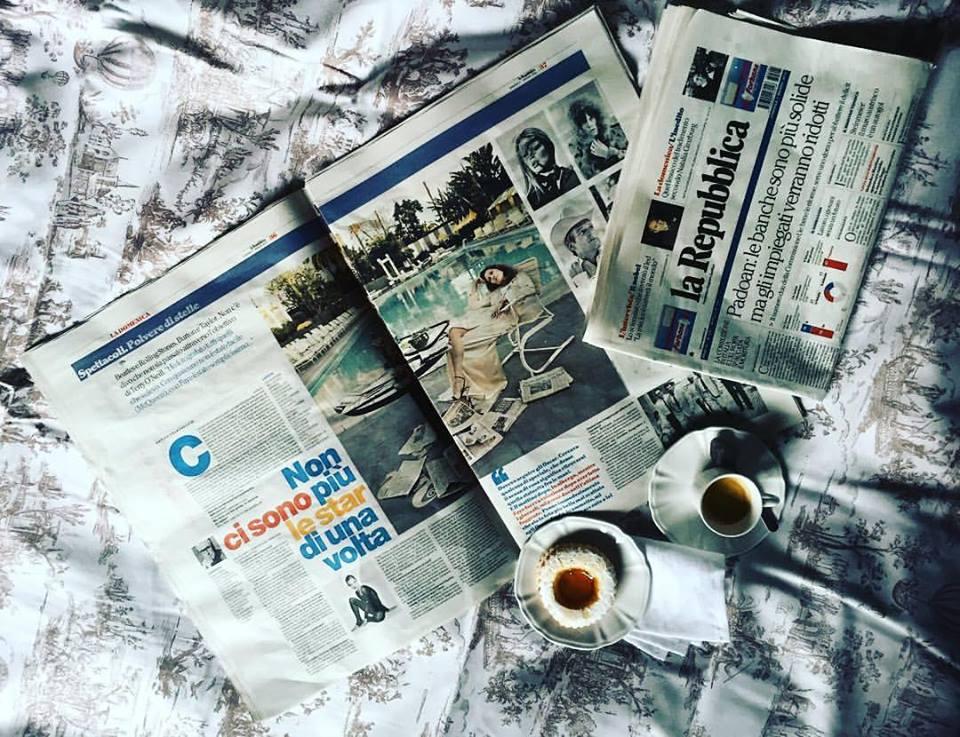 La Repubblica Newspaper - Terry O'Neill at Ransom Art