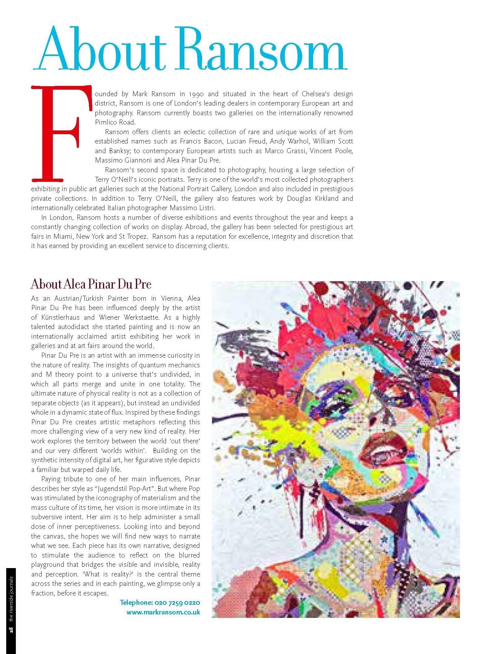 Riverside Journals - Alea Pinar Du Pre at Ransom Art