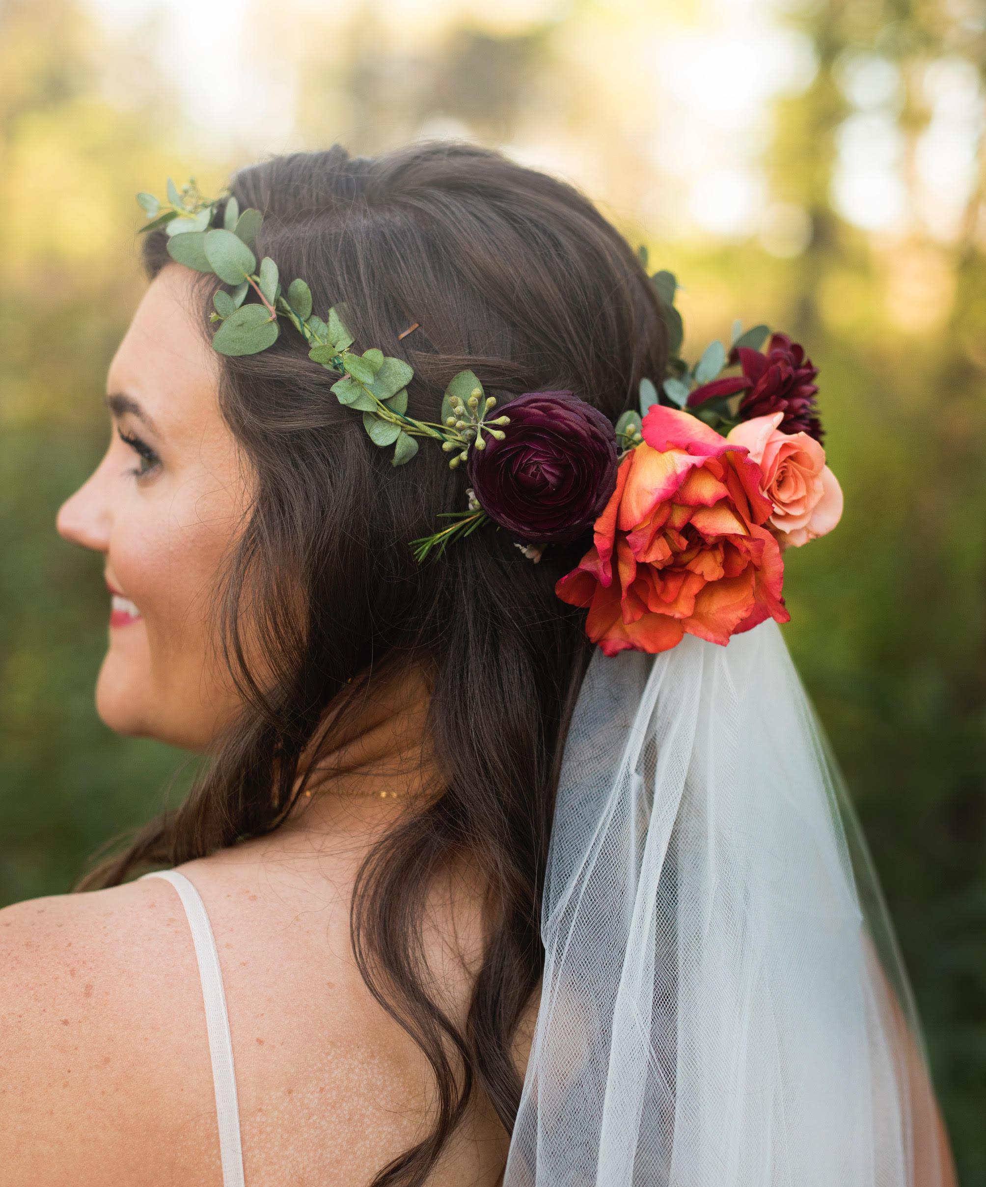 Wedding Flower Crown Burgundy Coral.jpg