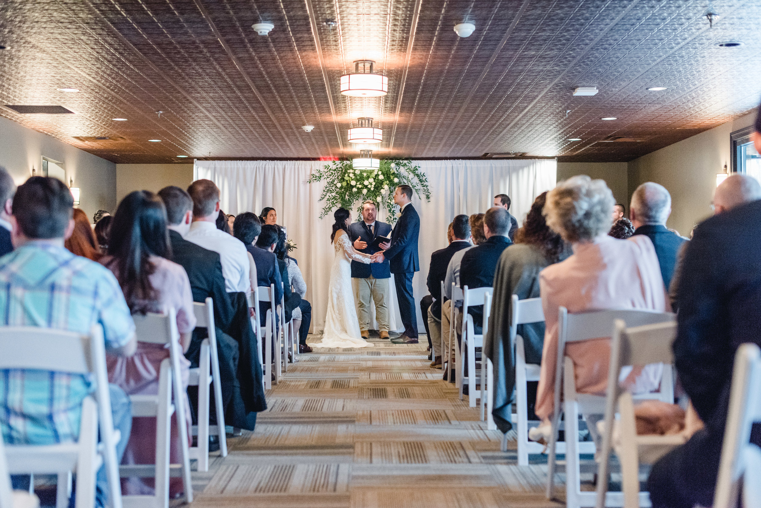 ceremony hanging flowers Lafayette Country Club.jpg