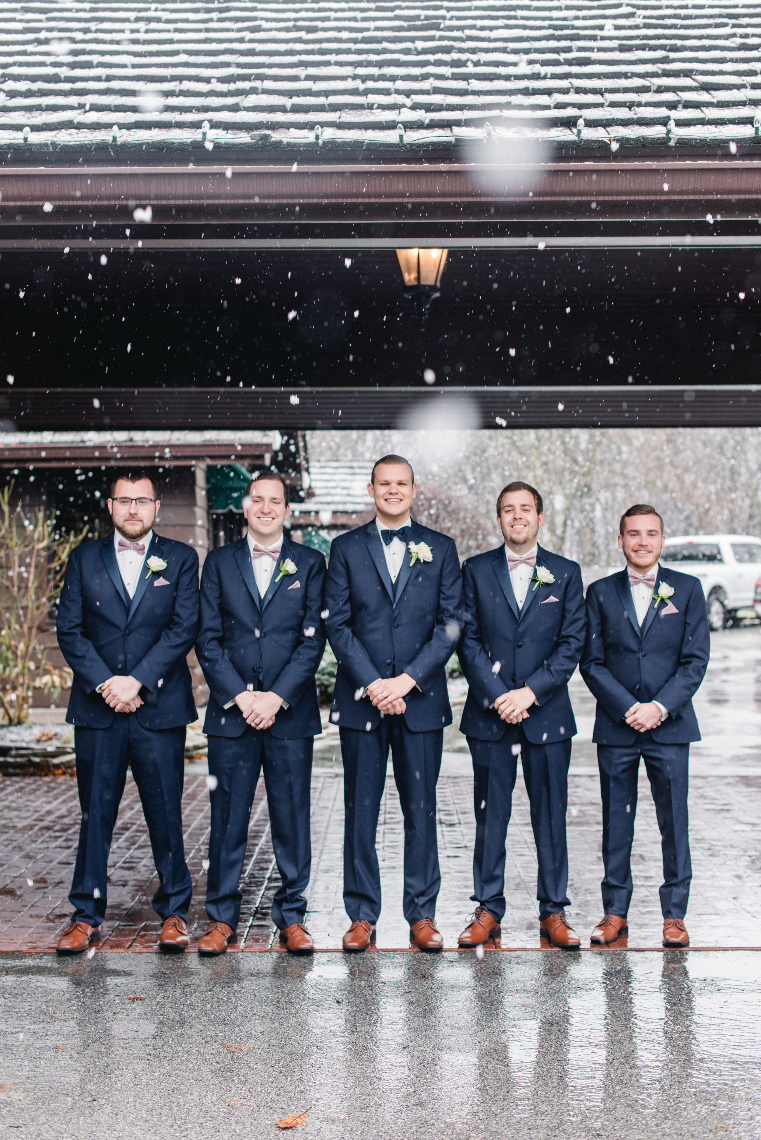 Groomsmen with snow Lafayette Country Club.jpg