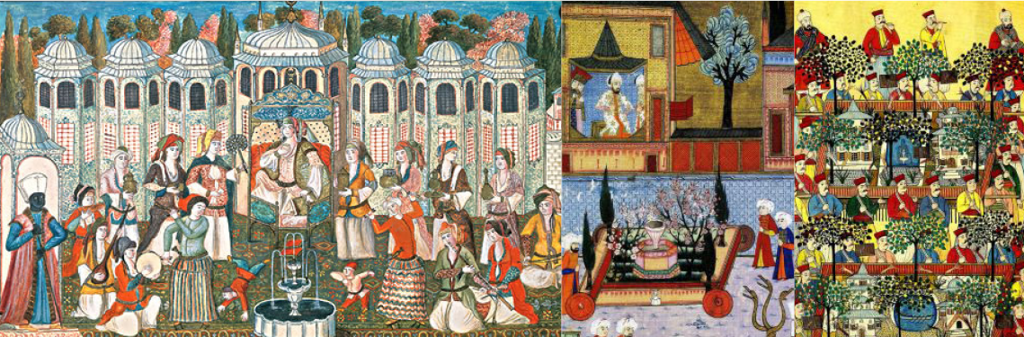 Ottoman and Persian miniature paintings