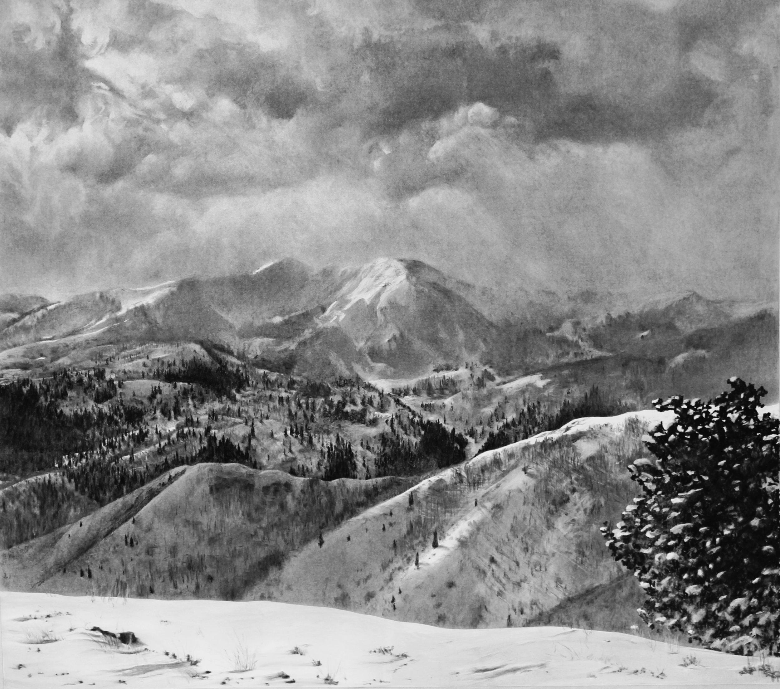 Cascade Peak From Guardsman Pass Winter