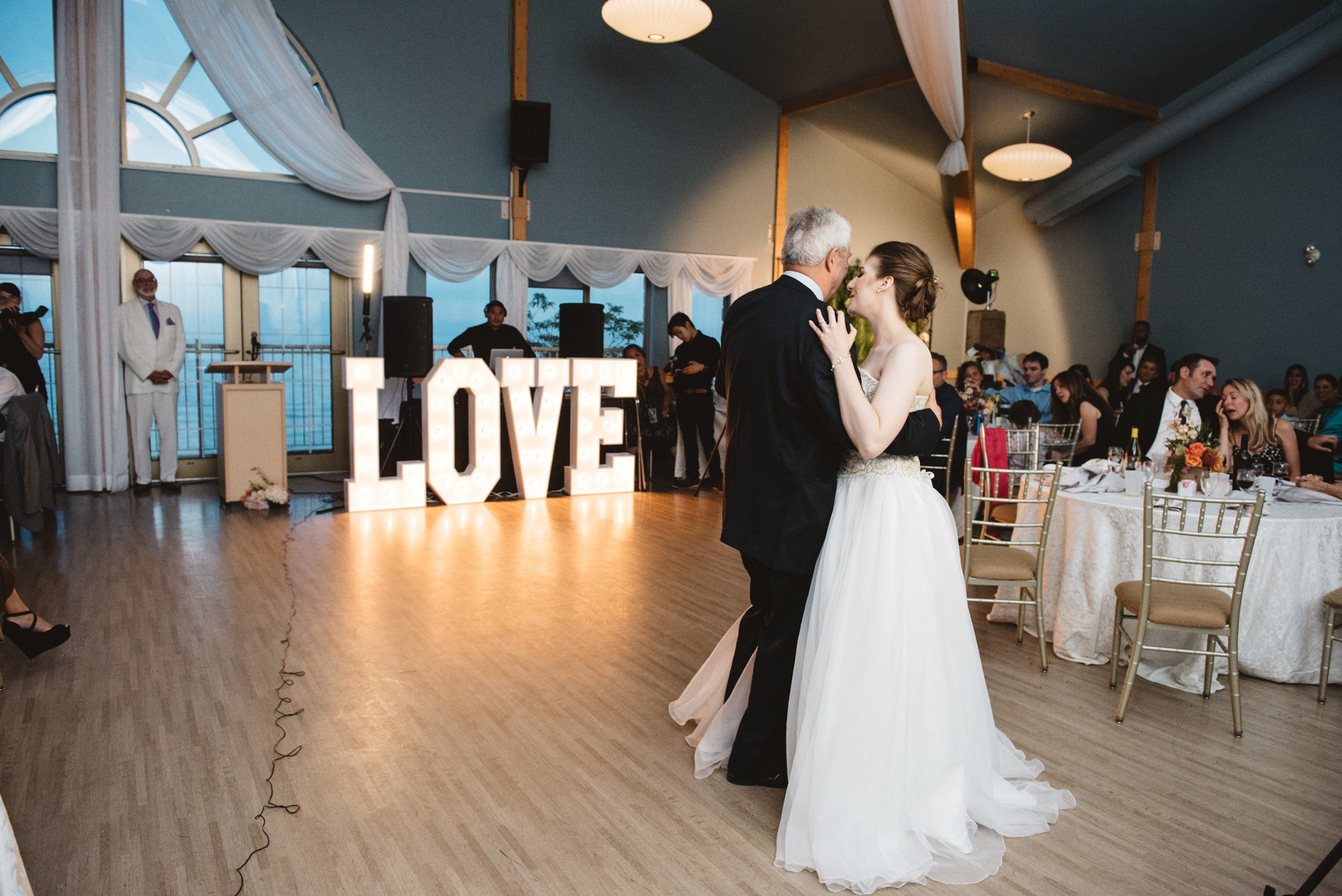 love sign rental with father and daughter