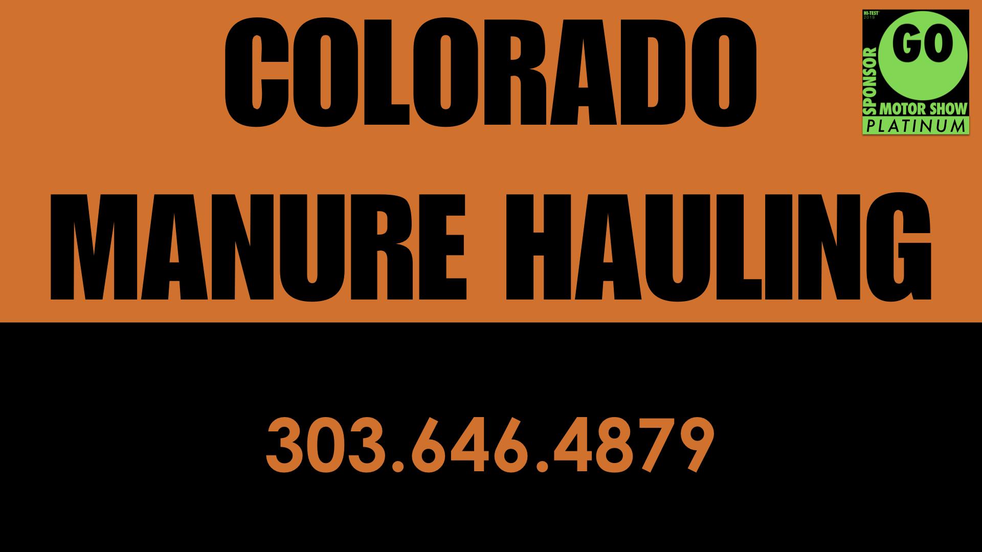 Colorado Manure Hauling