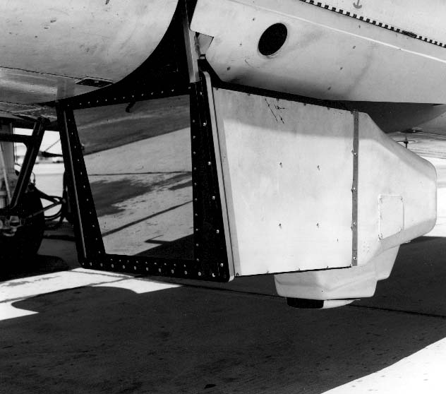 ADAM search set installed for flight testing, 1964; with ADAM FLIR China Lake began the development of the technology that has provided the Fleet with its night-attack capability using forward- looking infrared devices.