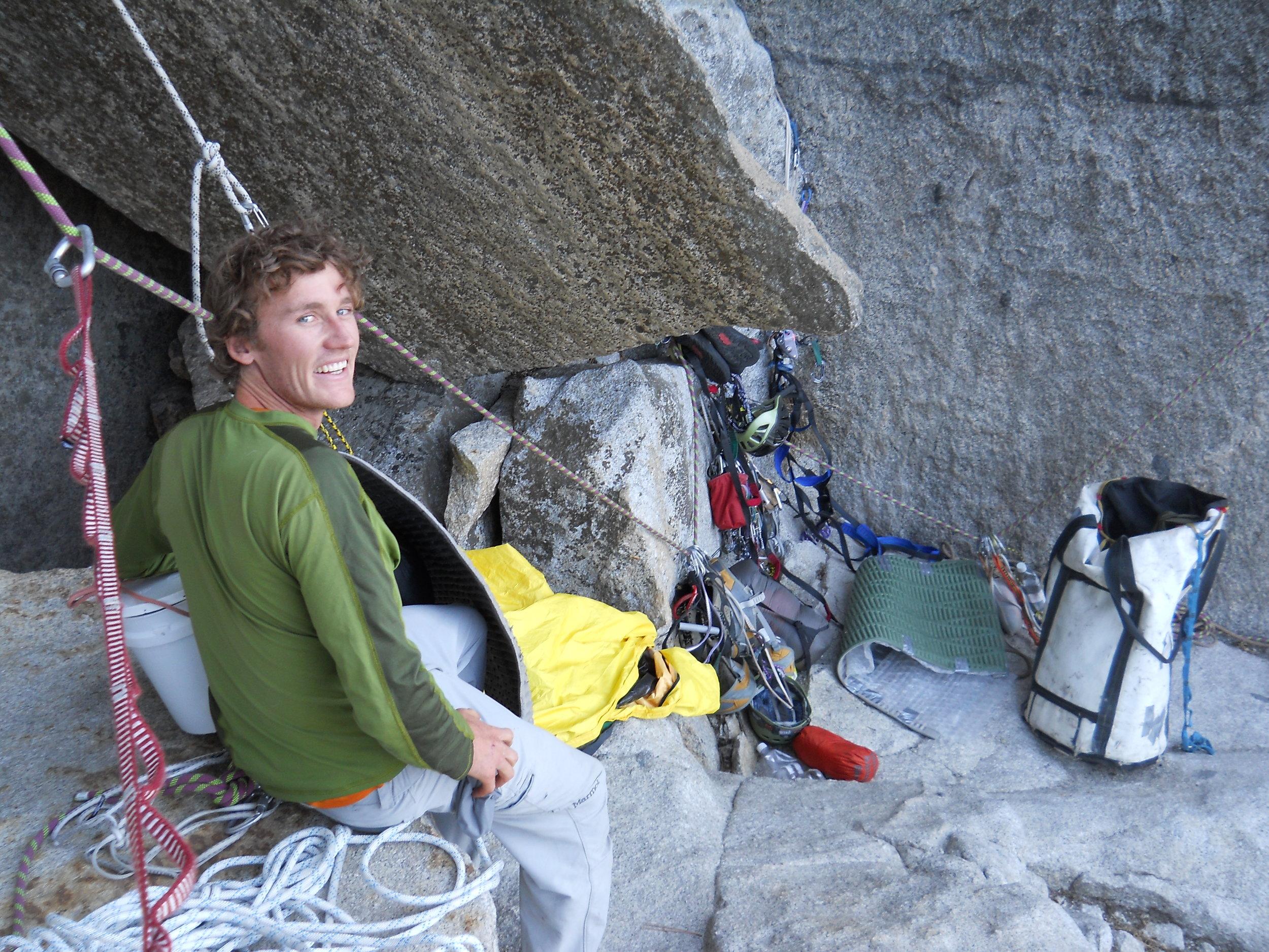 - Big wall free climber Sean Haverstock writes