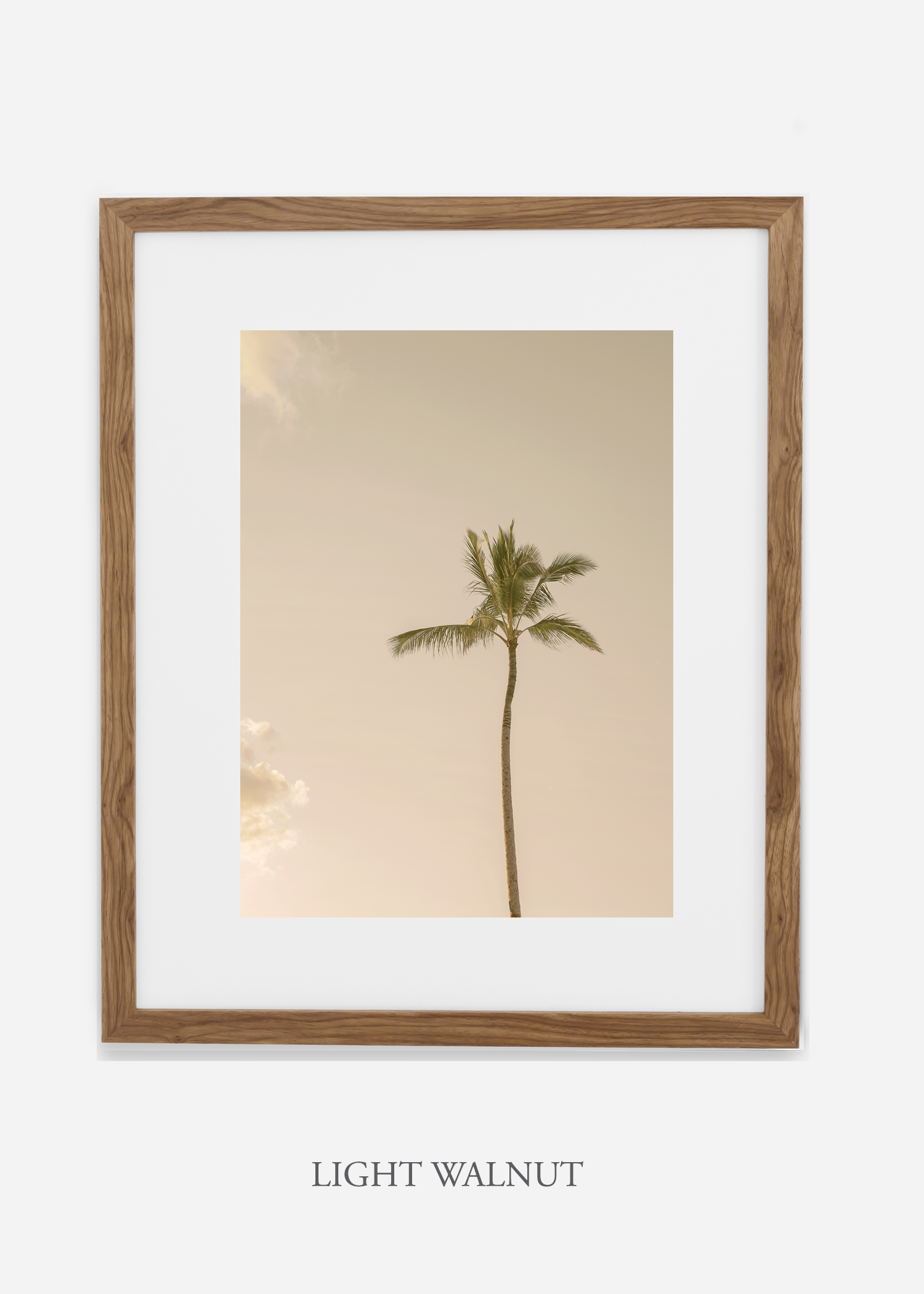 WilderCalifornia_Hawaii_lonepalm_tropicalart_lightwalnutframe.jpg