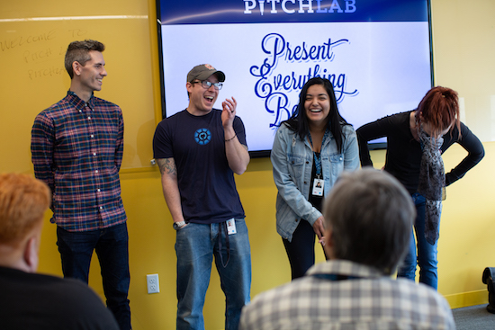Pitch Lab & Xero Team Laughter