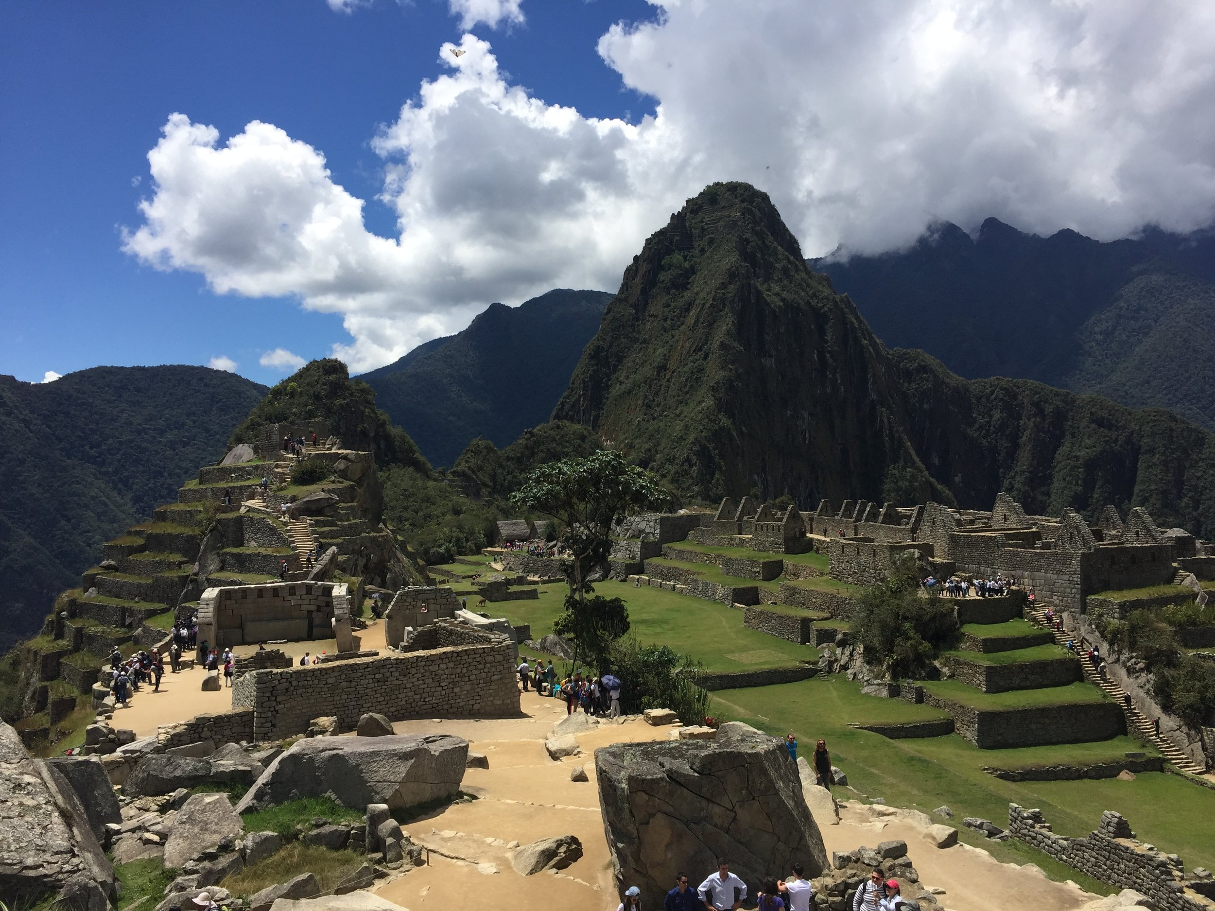 **At some point take a seat. Anywhere. Watch the hundreds of visitors matriculate around the ruins. Transport yourself back to the year 1460. There were only 750-1000 Inca's while 5,000 visitors each day.