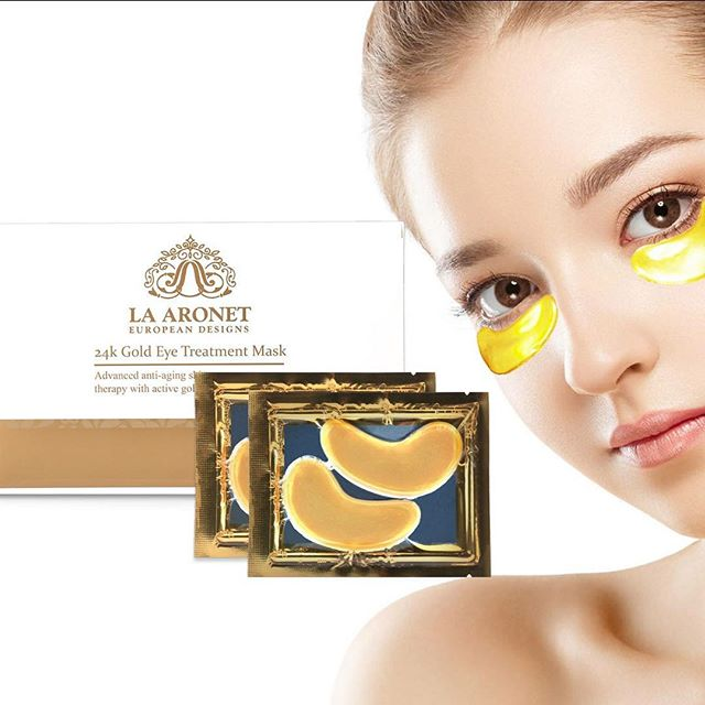 Skin that glows like 24k gold ❤️ Link in bio 👌  #beauty #eyemasks #goldeyemasks #24kgold #beautymask