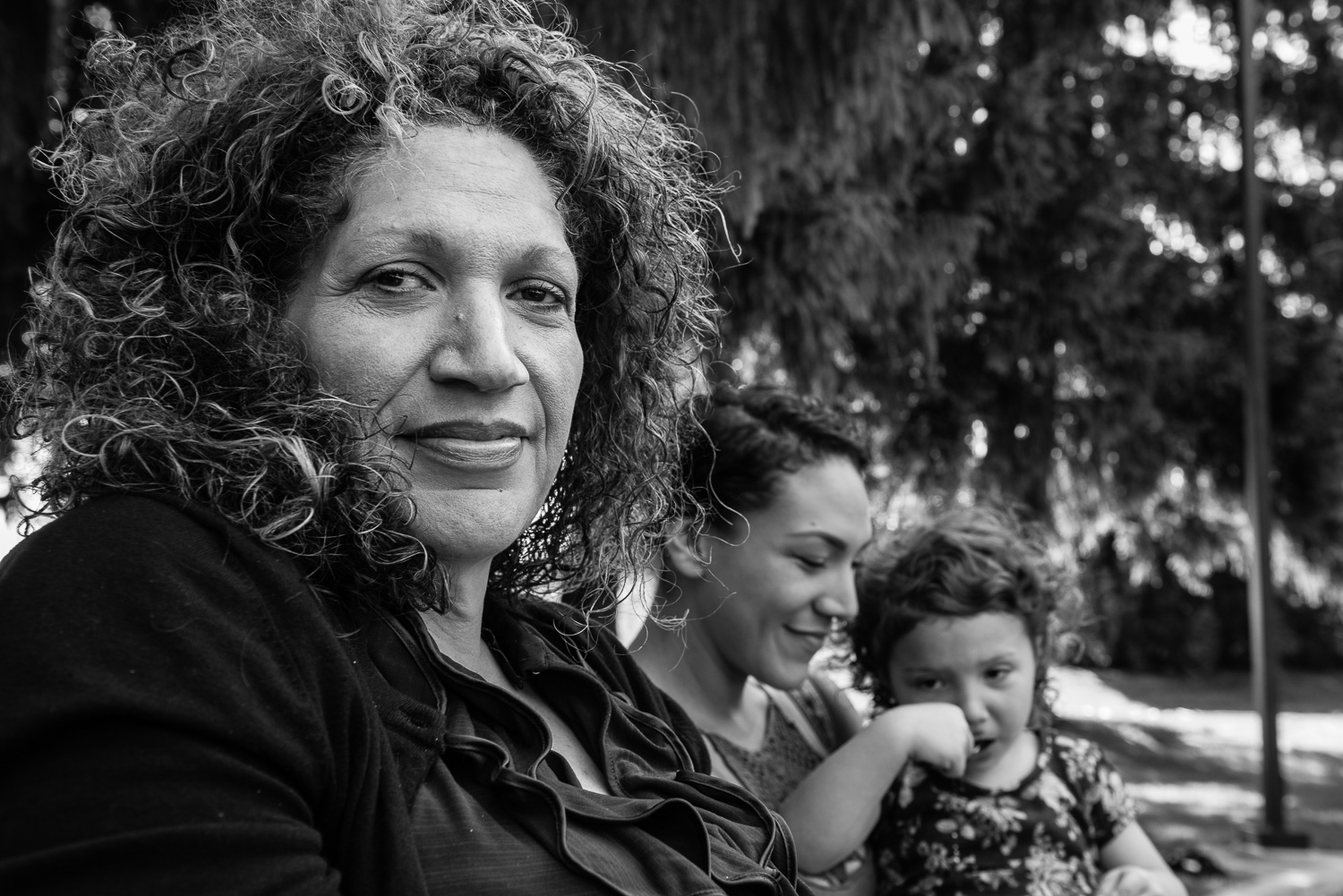 """Carmen and her daughter and granddaughter just after our interview about her life and LFOs.""""People change. People get better. Families reunite. There is always hope there. Hope is what I'd like to end on."""""""