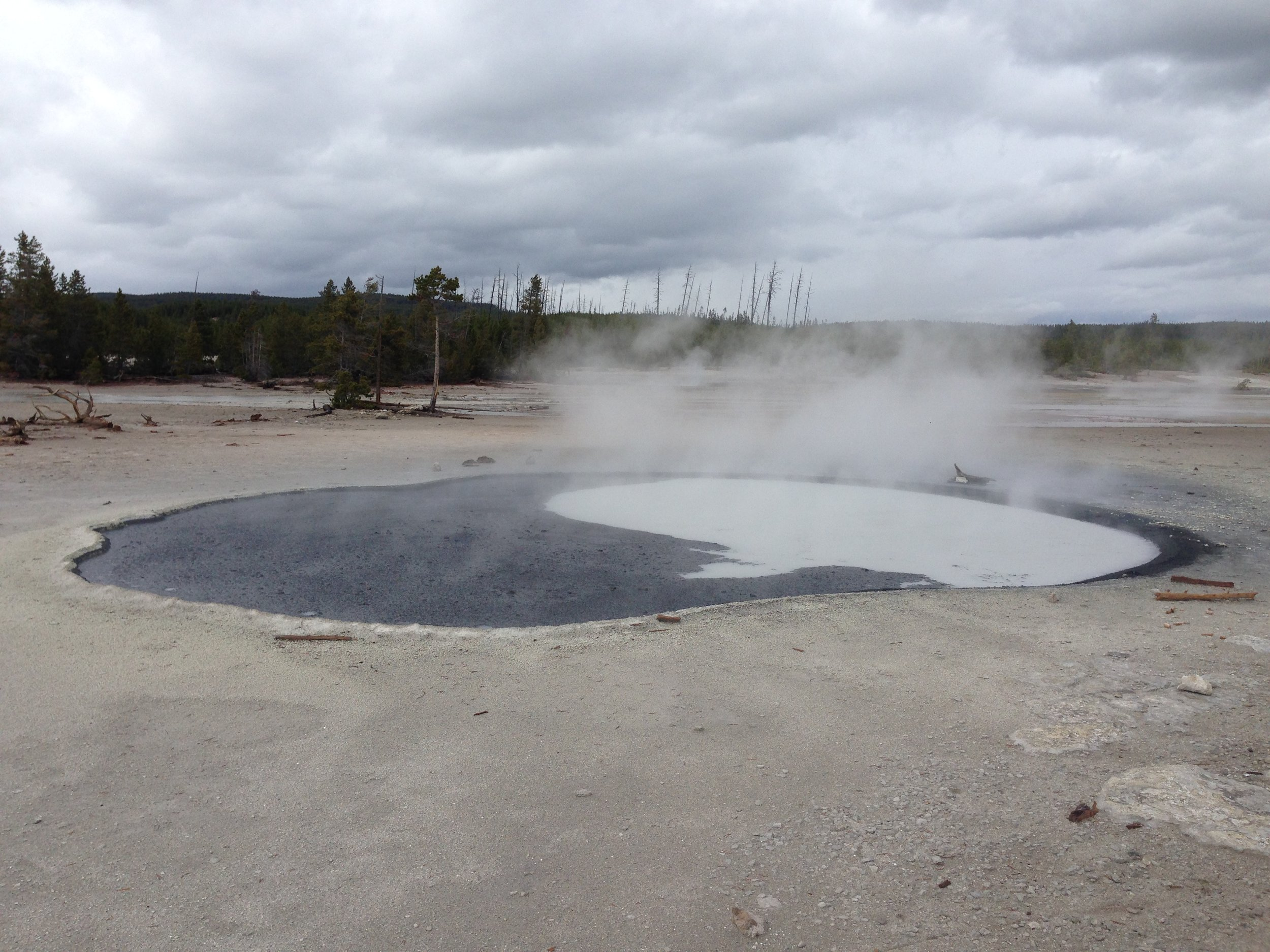 Cinder Pool in Norris Geyser Basin, Yellowstone National Park