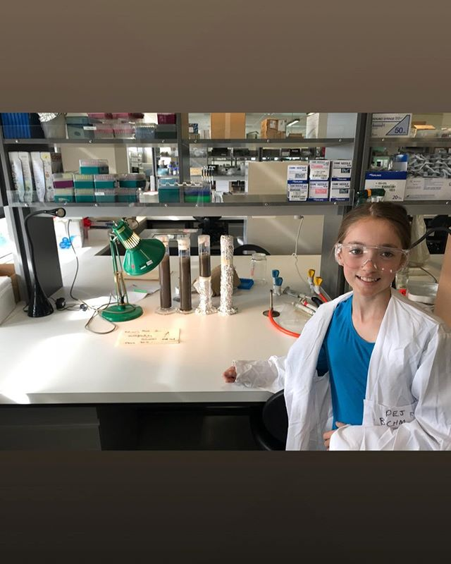 Lily spent a part day with me at the University setting up Winogradsky Columns. She even postulated a hypothesis.