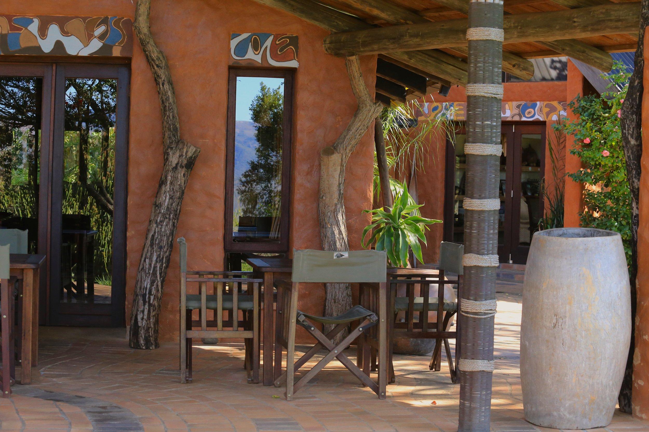 Phophonyane Falls Restaurant veranda.JPG