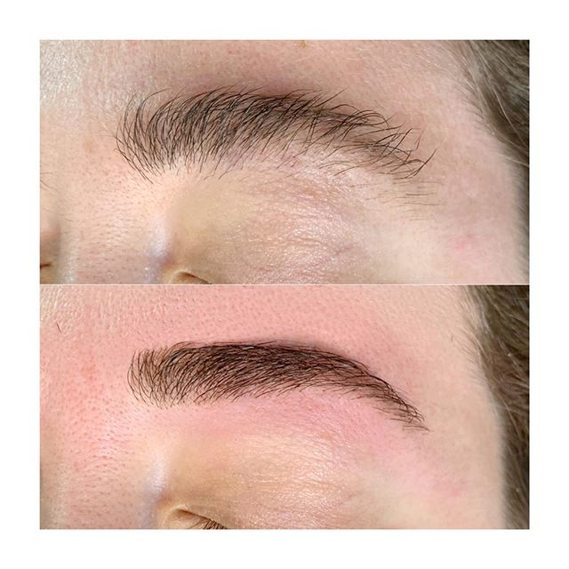 Gorgeous, tamed brows 💕 Summer appointments are limited so make sure to book online or give me a call at 484-823-0132 ☀️ #browrefresh #beforeandafter #browboss #waxing #browwax