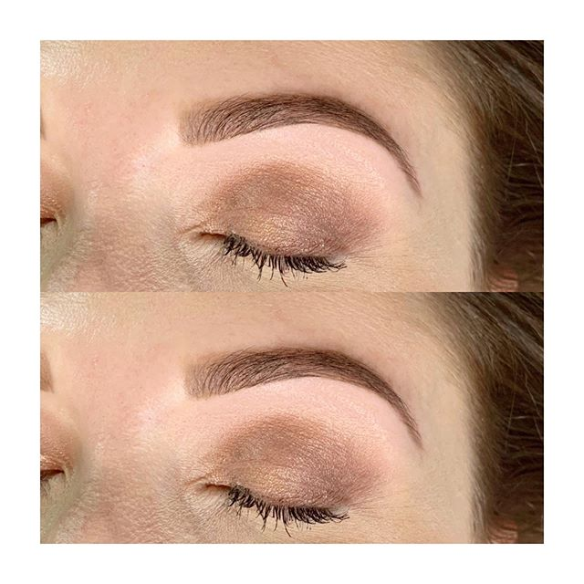 Brow Perfection 😍 Brow Refresh finished with @billiondollarbrows Brow Butter in Taupe #browrefresh #browboss #browwax #billiondollarbrows #theskinloft