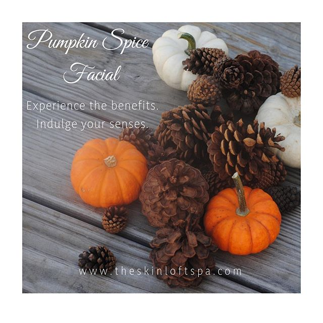 My most requested facial is back! PACKED with vitamins A & C, the Pumpkin Enzyme will refine your skin to perfection. Antioxidants will reduce fine lines and wrinkles leaving you with plump & radiant skin. #pumpkinspice #pumpkinfacial #theskinloft #newlondonpa
