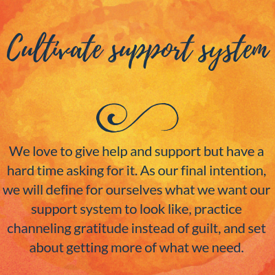 Cultivate a support system.