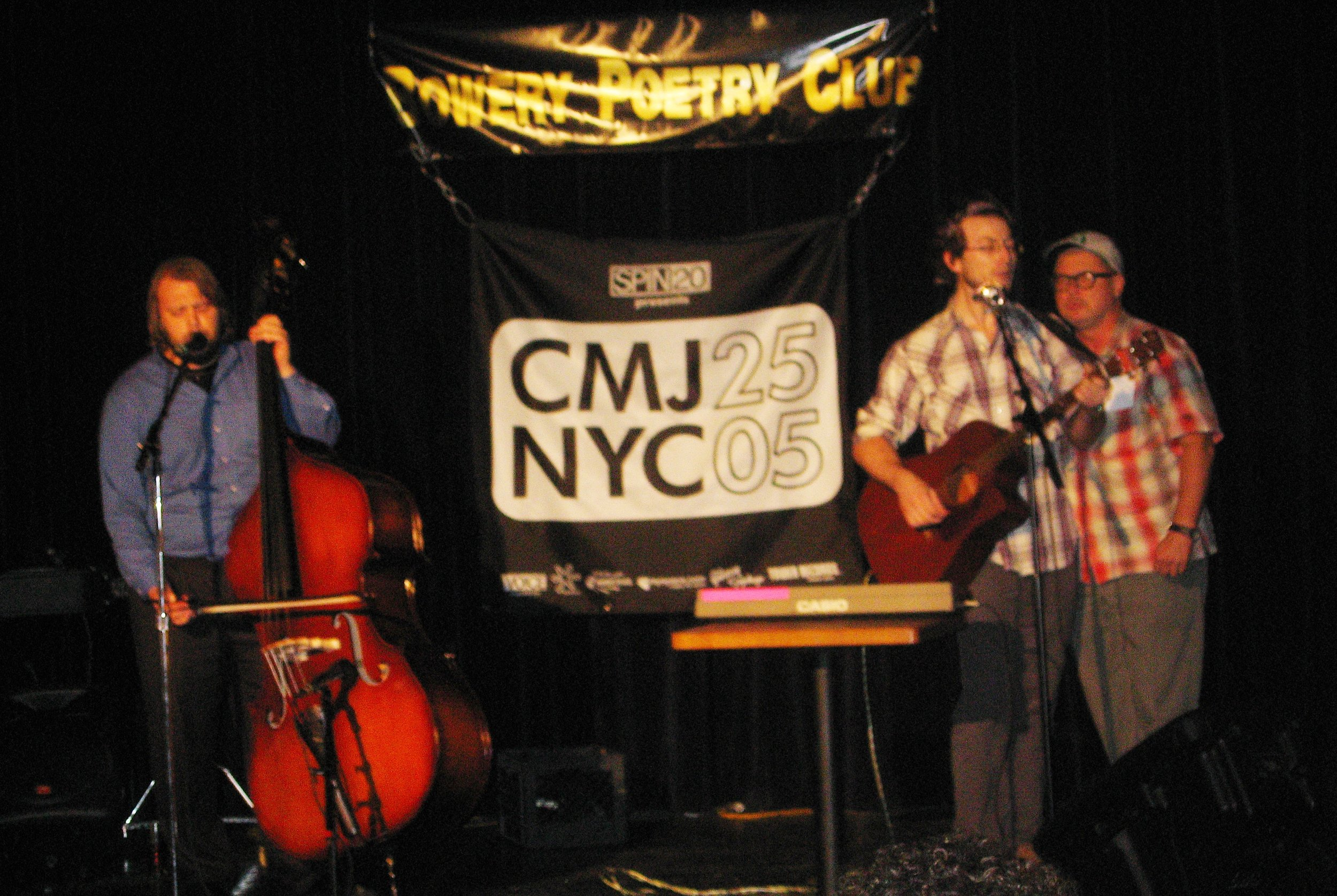 Snowboots and Bob Holman at The Bowery Poetry Club
