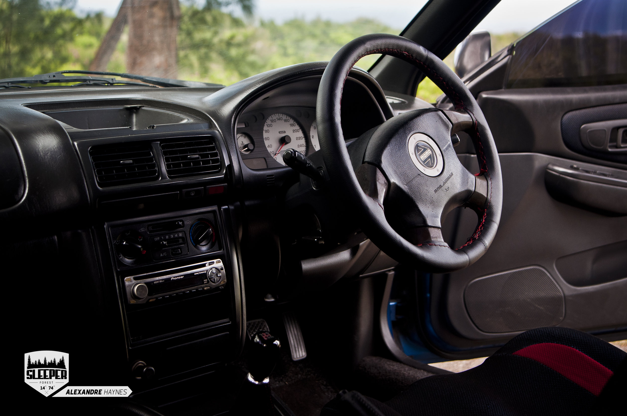 A triple gauge pod in the centre of the dash is planned.