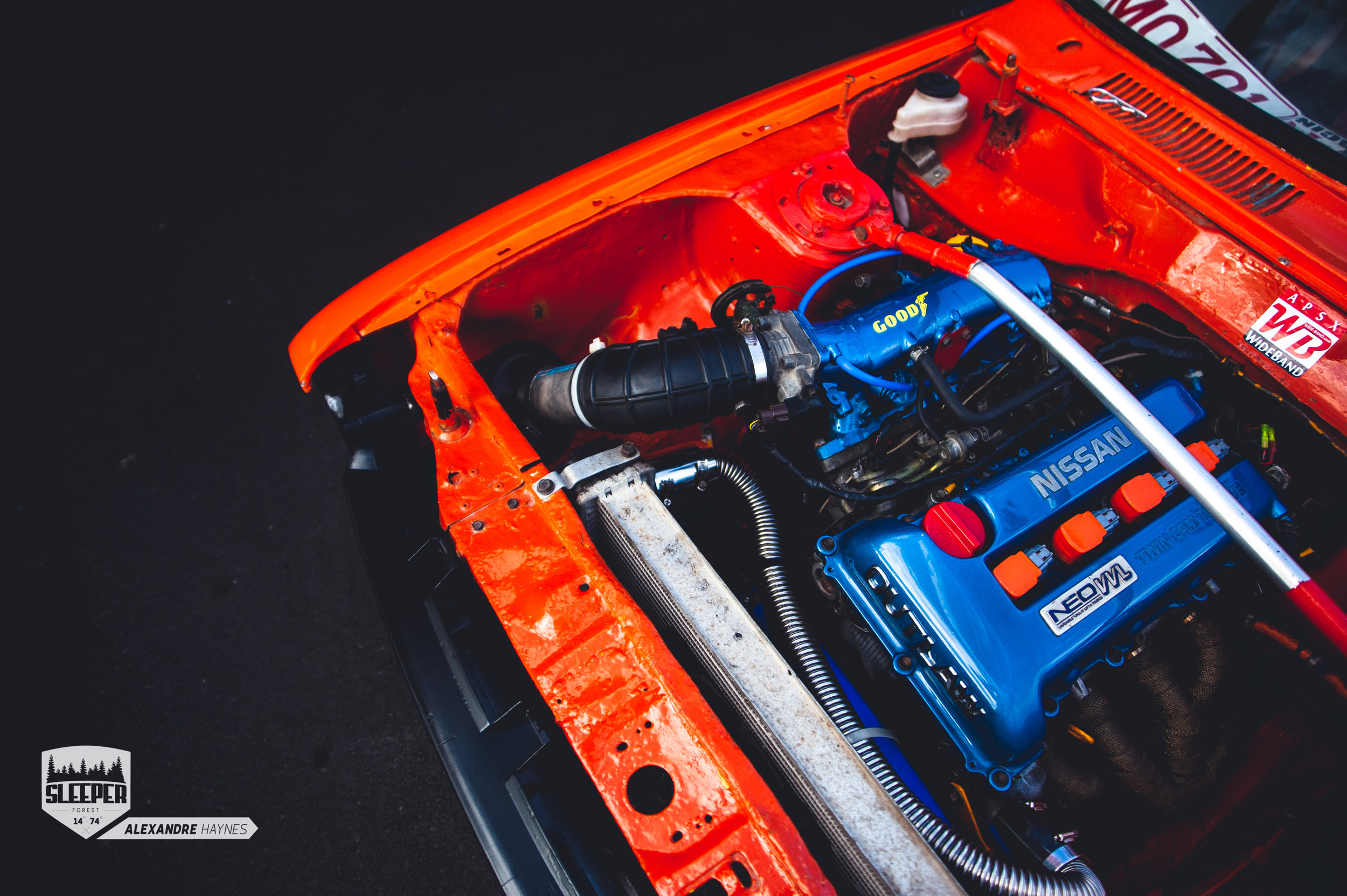 Datsun 120Y with an sr20