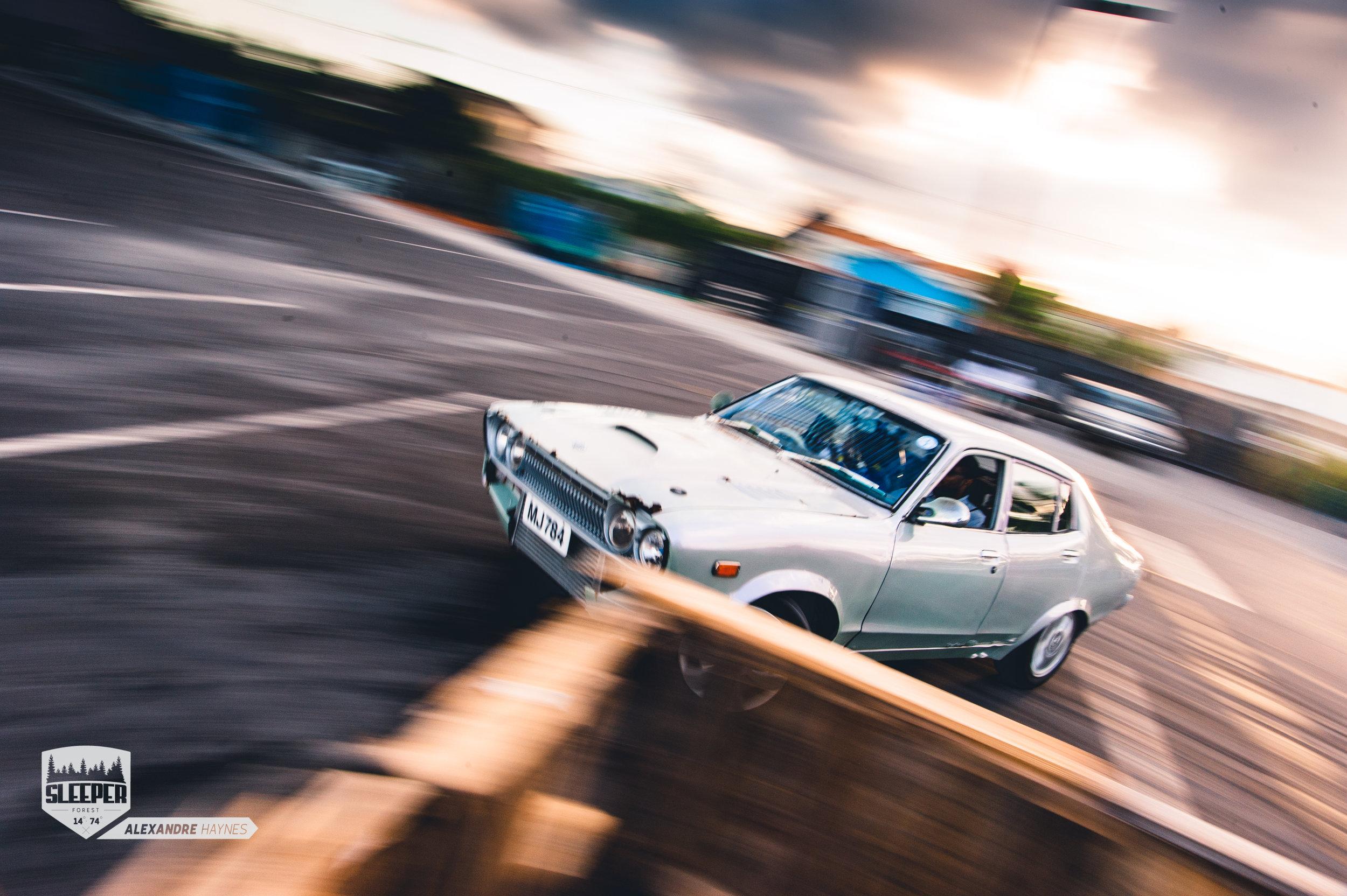Datsun 120Y Sideways