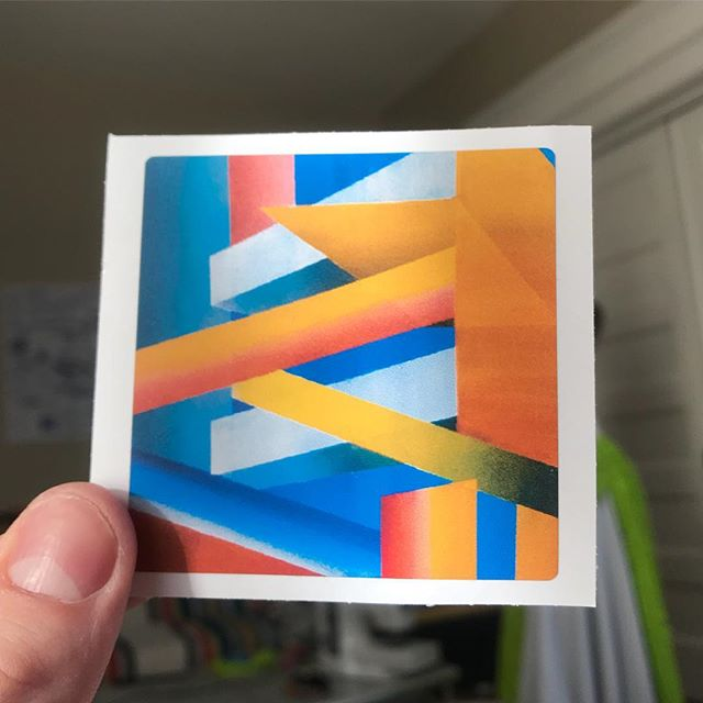 Stickers for my upcoming show! This was a painting I did a couple years ago. Still one of my favs🧡 Thank you @megshanks_photo for making these so fast!