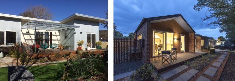 Finnis House in Narrabundah and Blue Heeler House in Downer - both will be open for the Solar House Day bus tour.
