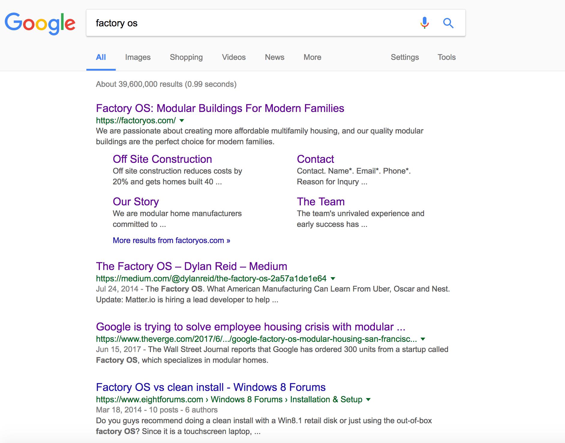 SEO search result google