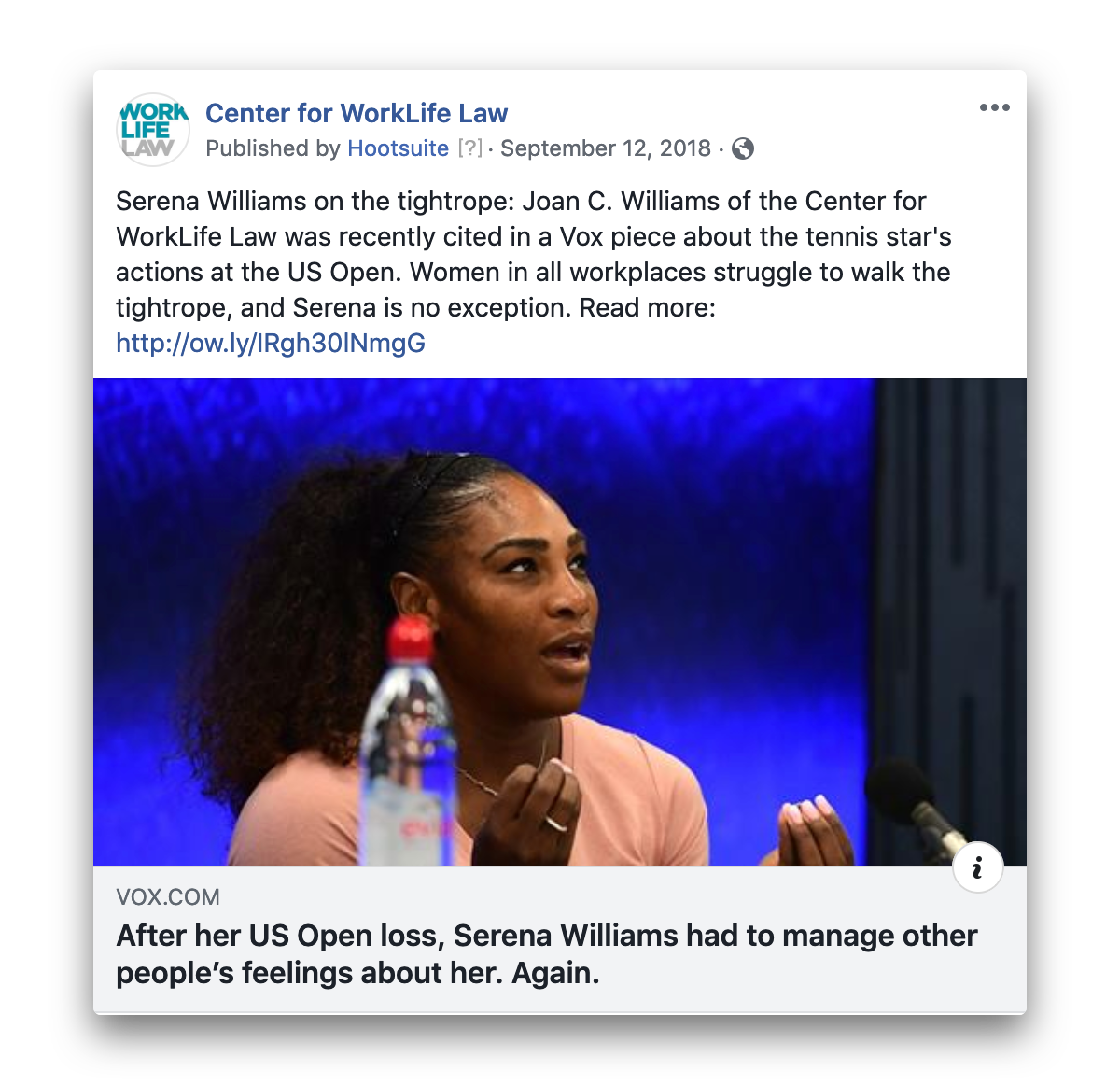 Serena Advancing Women in Workplace