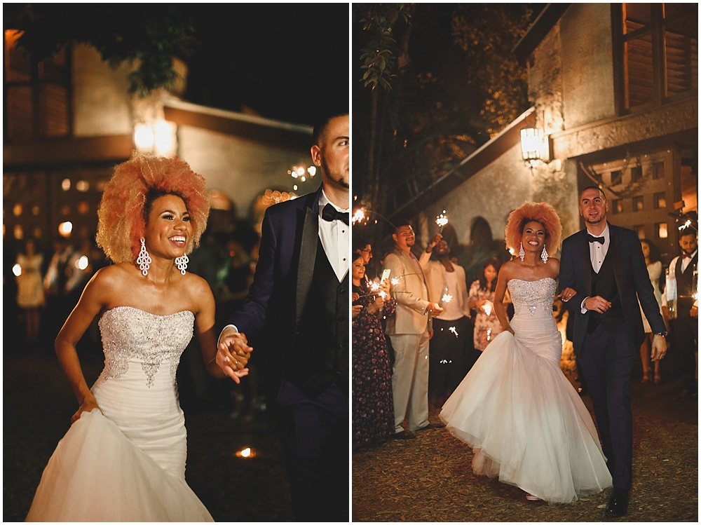 The night ended with singing and sparklers to send off the bride and groom to their Jesus-filled ever after! <3
