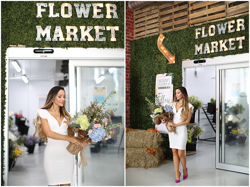 I absolutely loved the efficiency of the Miami Flower Market. You walk in, choose you're favorite flowers and simply ask the florist to whip something up! I find it that handing over creative control often results in wonderful outcomes.