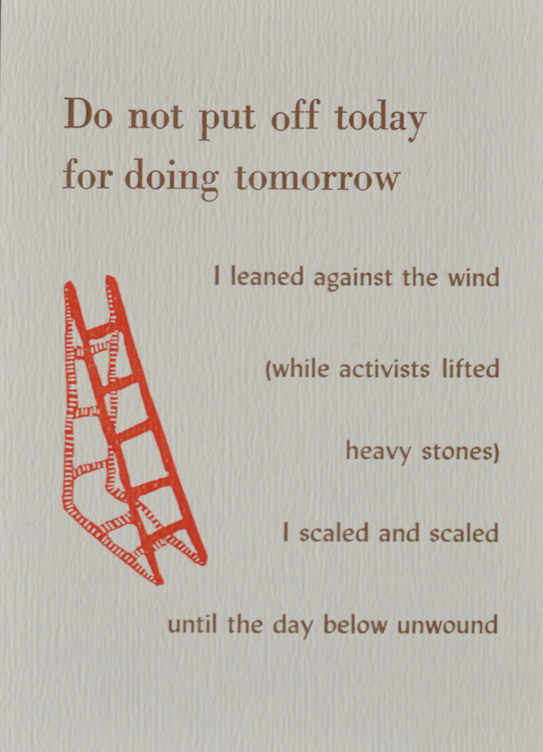 Do not put off today for doing tomorrow