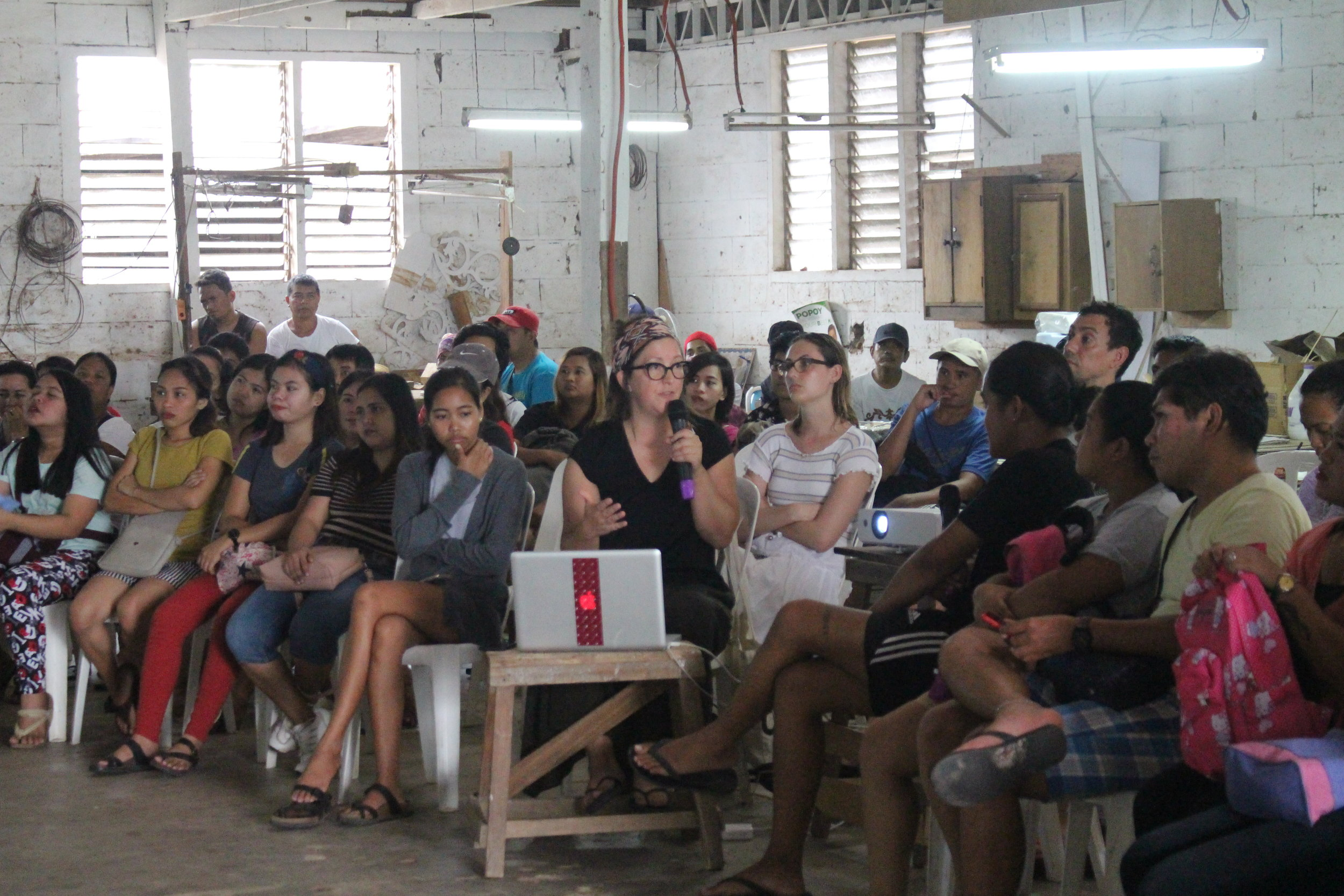 May 11, 2019 (Saturday), to conclude her residency, Leyla Cárdenas gave an artist talk in the artisan workshops of Las Casas Filipinas de Acuzar.