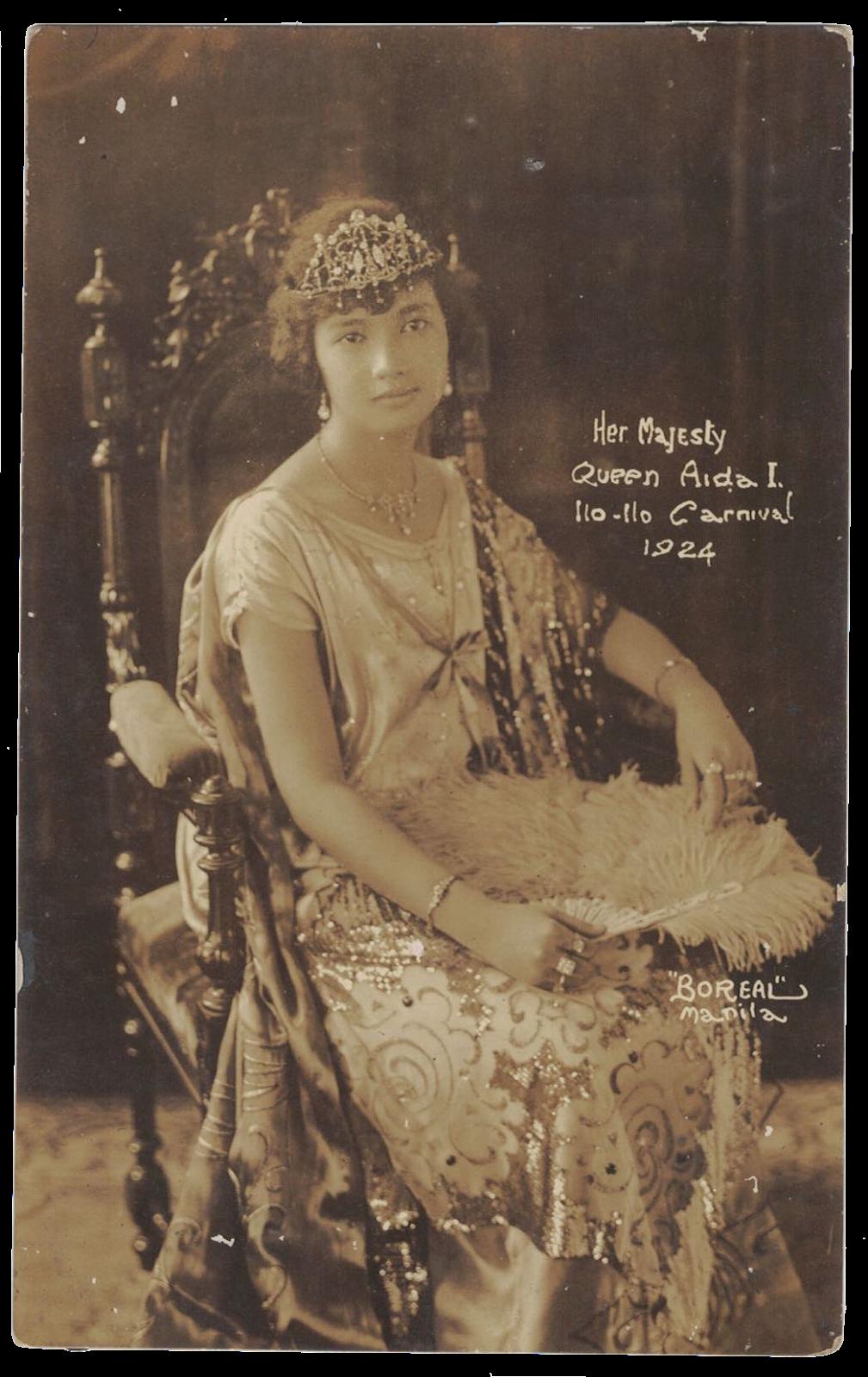 1924 Iloilo Carnival, Queen Aida.png