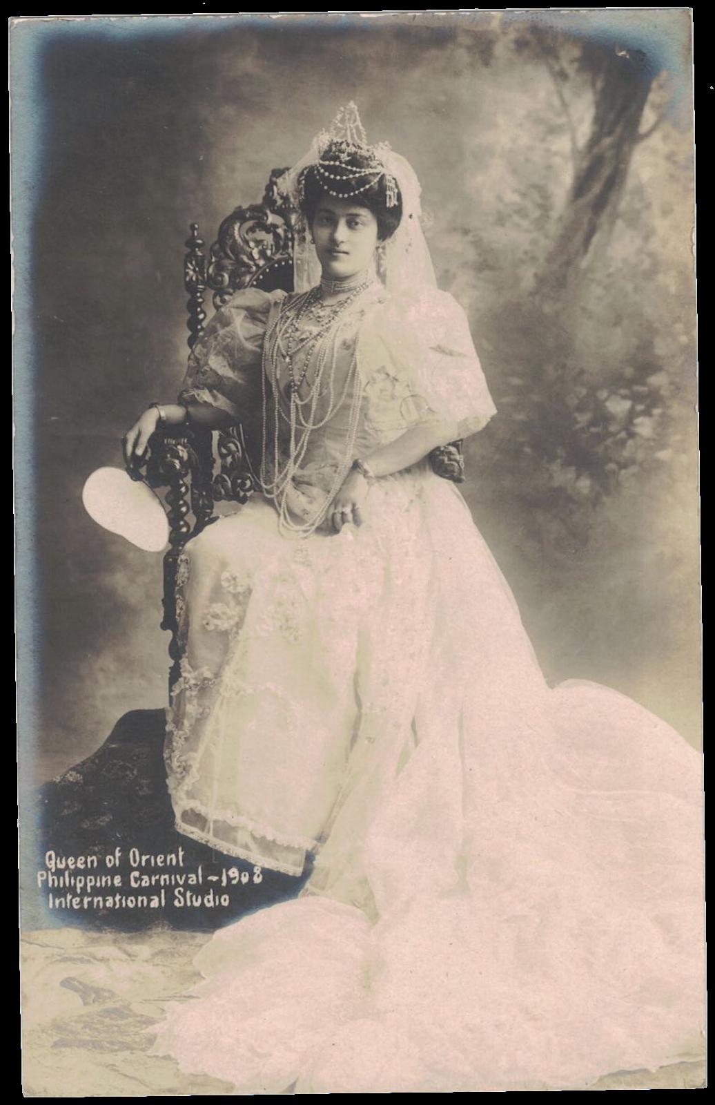 1908 Queen of the Orient, Pura Villanueva Kalaw.png