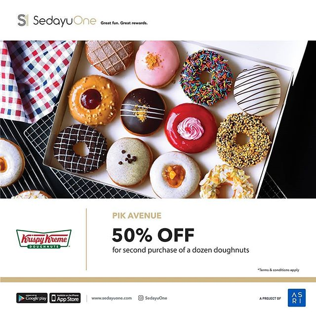 Privileges . Exclusive for @sedayuone member . Get 50% OFF @crispycreammemes @pikavenue . Terms & conditions apply, Ddwnload SedayuOne app now! . Great fun. Great rewards. . #PIKavenue #PIKaveshop #PIKaveeat #PIKaveevent