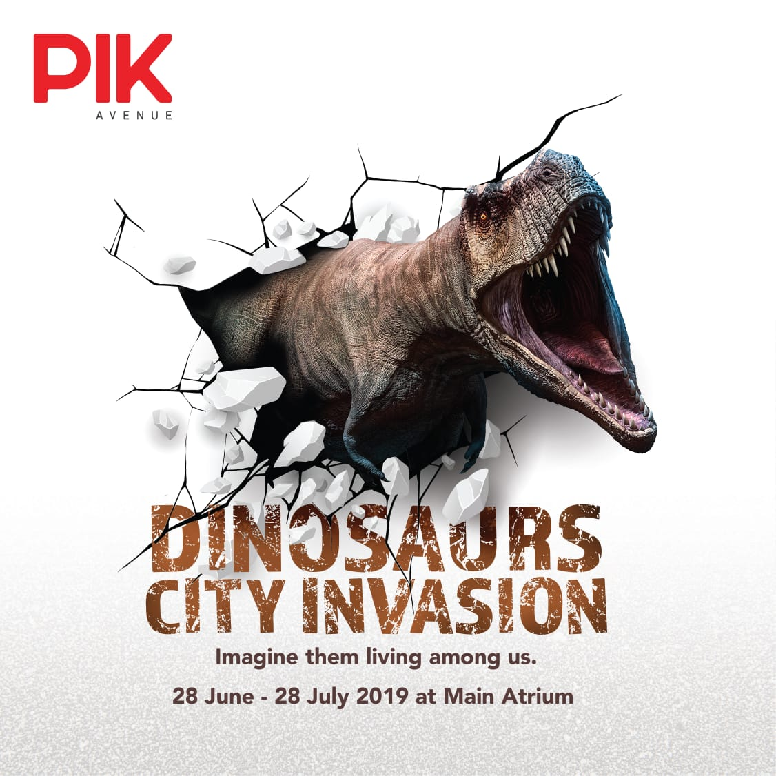 DINOSAURS CITY INVASION - Prepare to be amazed on a heart pounding adventure into the deep past this June 28th - July 28th at Main Atrium PIK avenue with the dinosaurs
