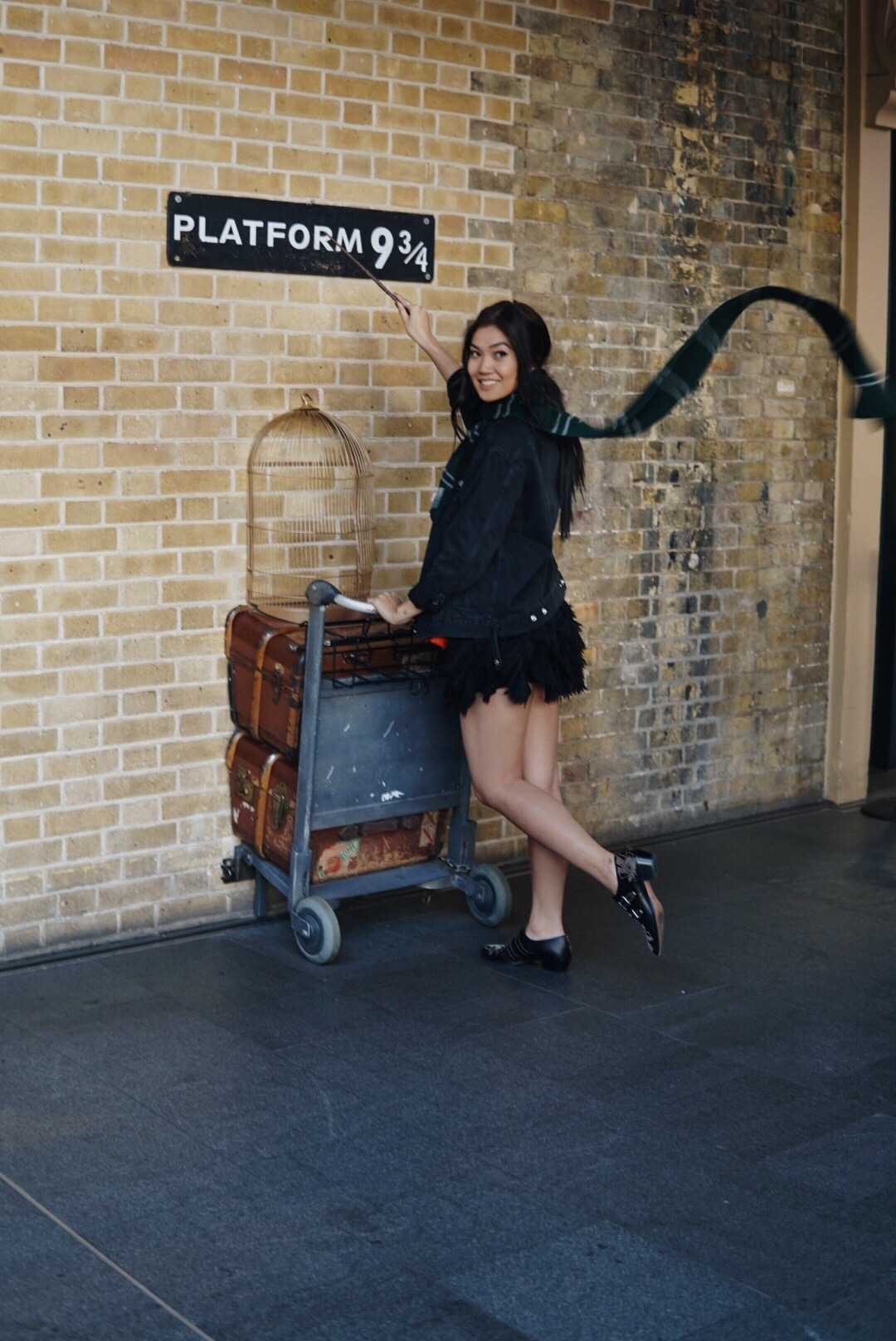 The next day, my one requested stop was fulfilled!Platform 9 3/4, because I am quite the HP fan! We woke up early to get there (Tee was the only who made it on time) and get the famous photo and shop the gift shop!