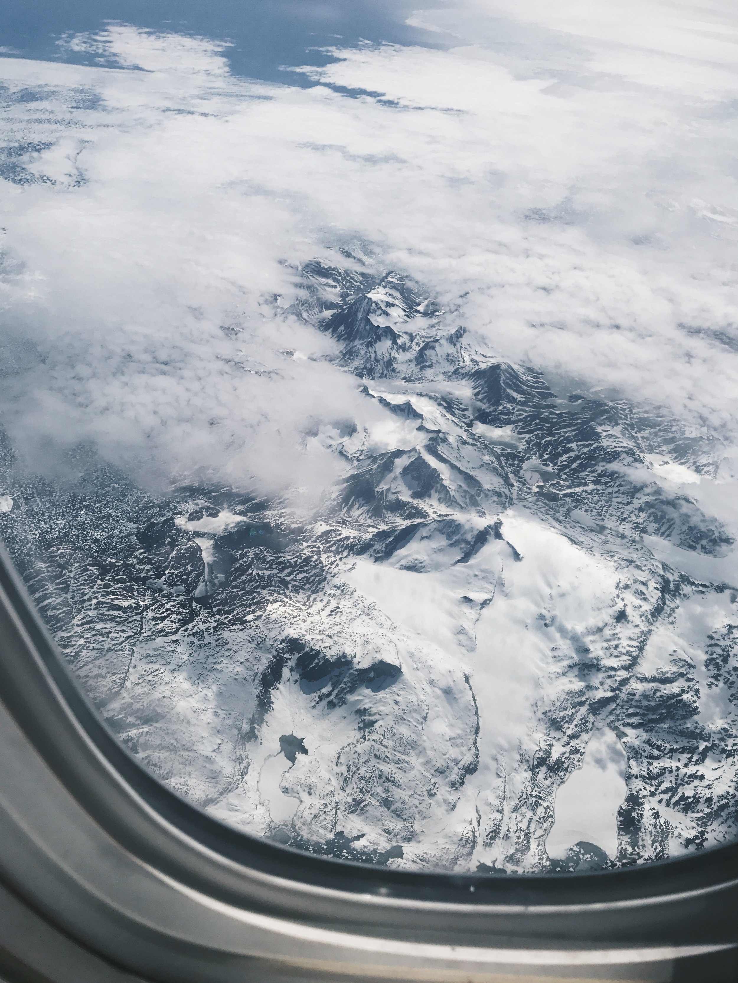 Flying over Iceland on the way home!
