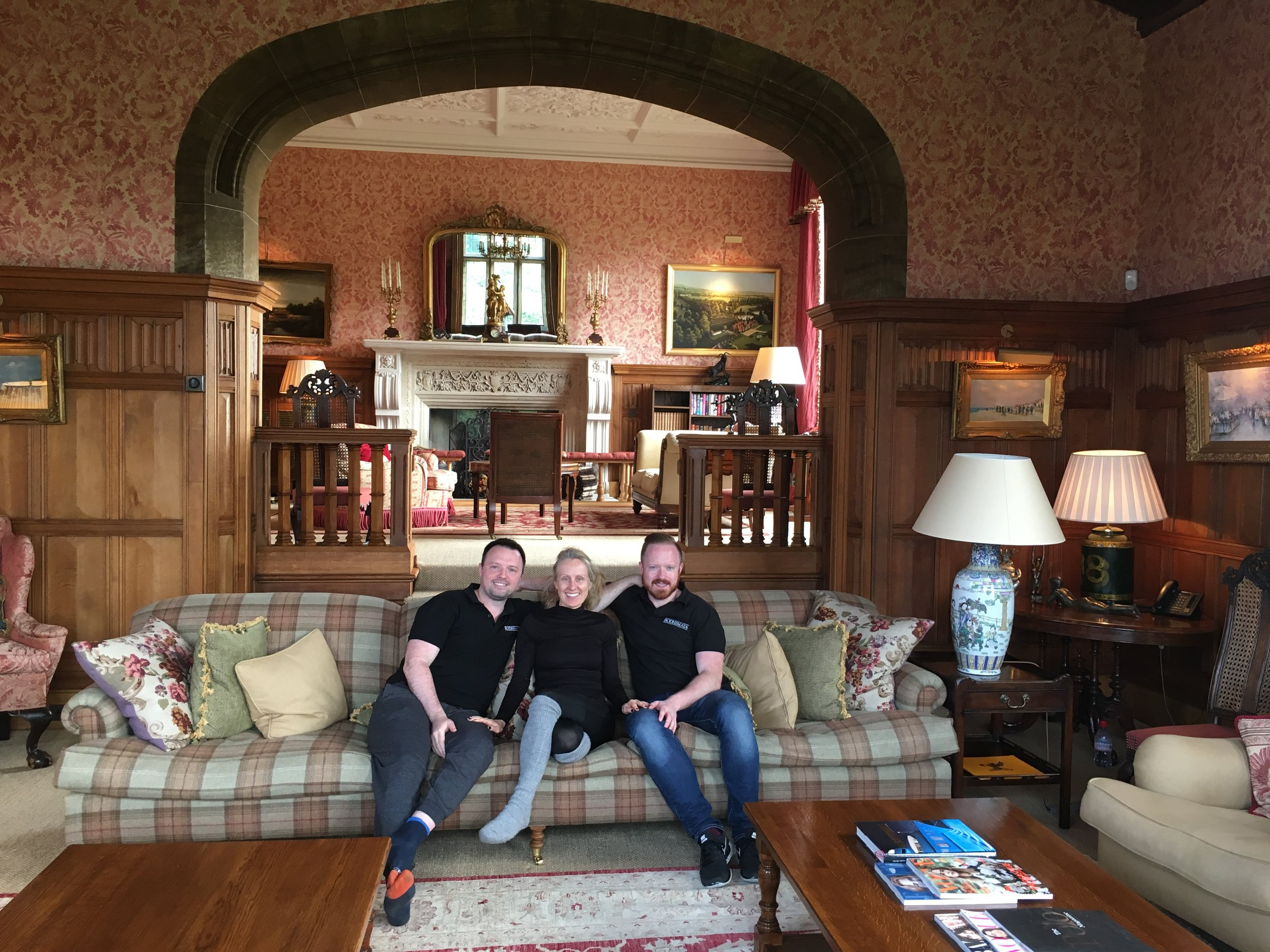 Cornelius and Daniel O'Shaughnessy and me on the Bodhimaya Retreat at Cowdray Park