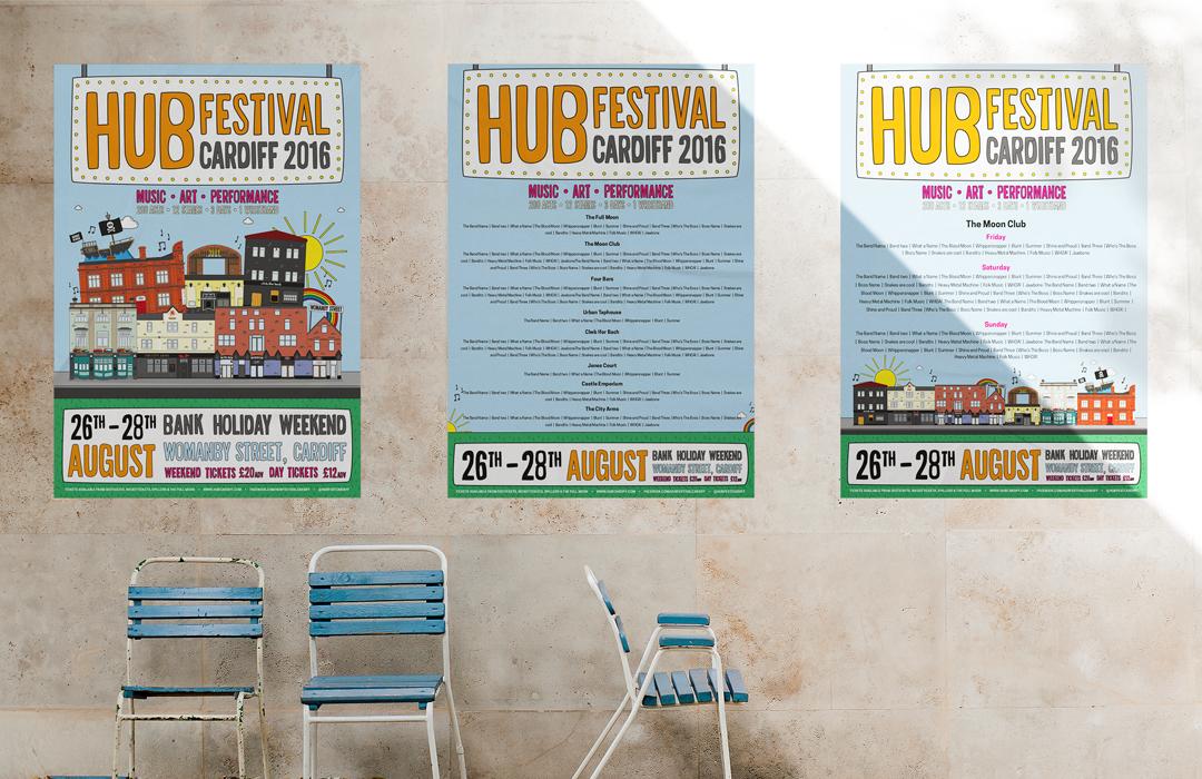 Hub Festival posters