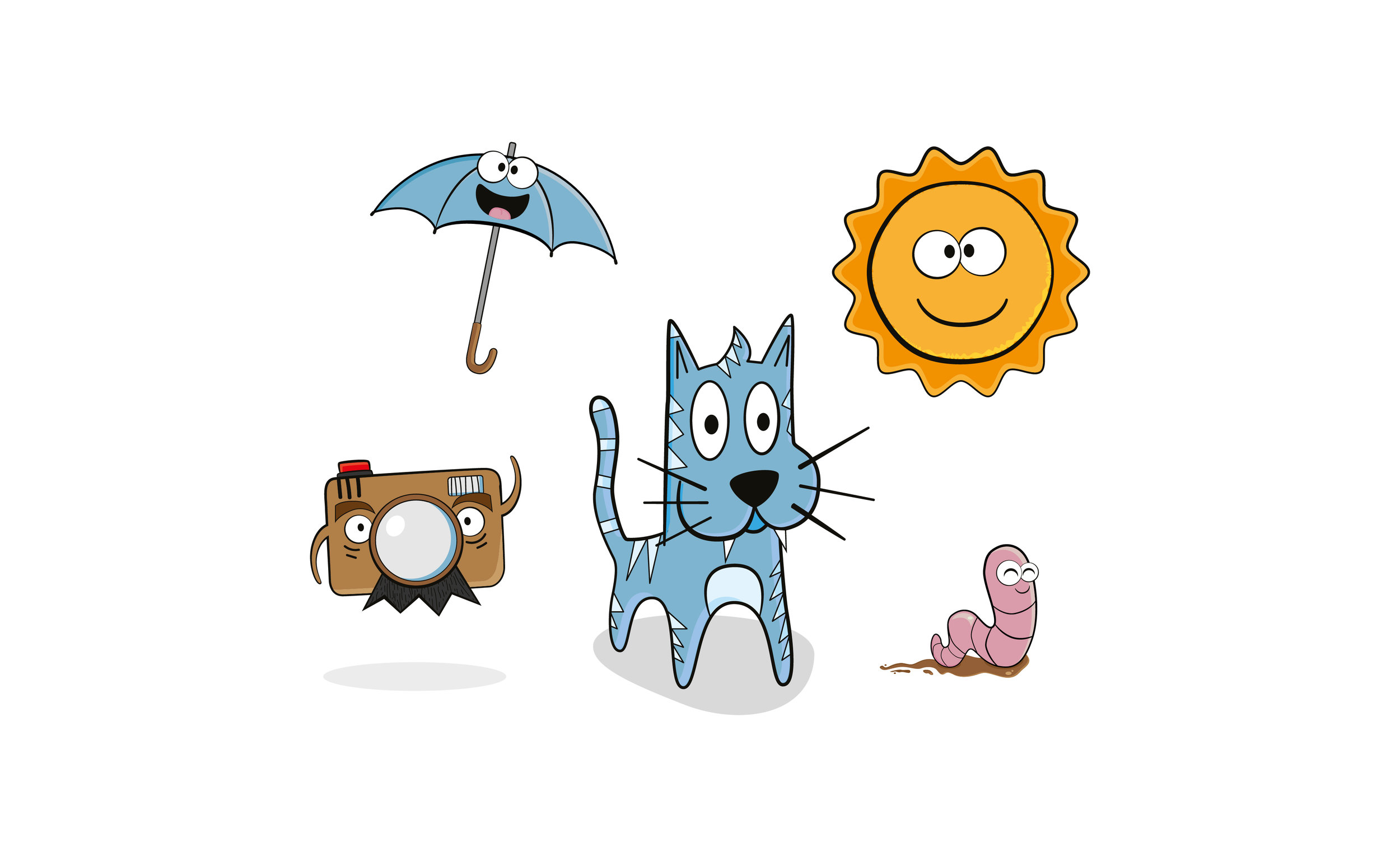 Mudpie photography character illustrations