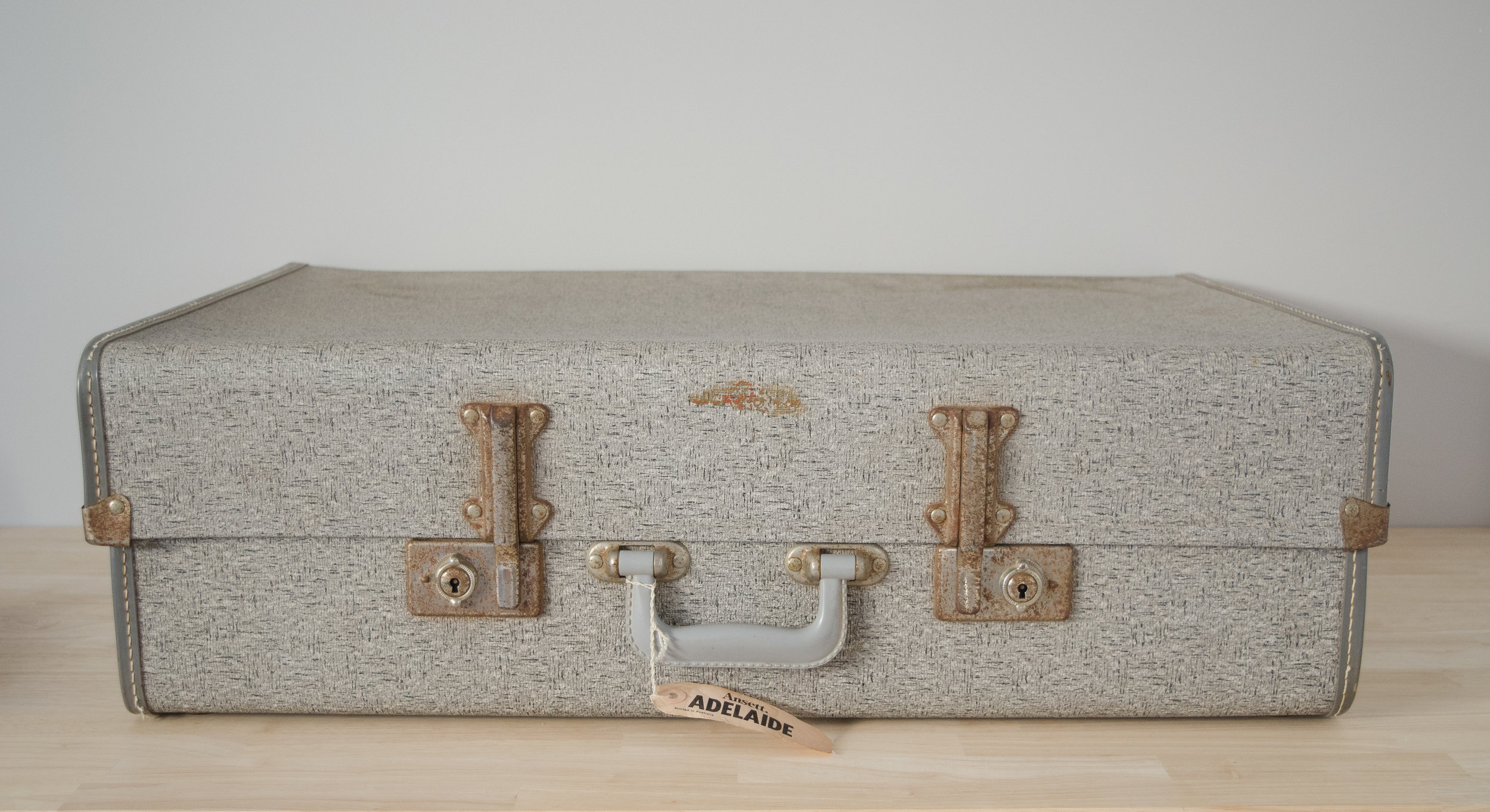 Grey Blizzard Suitcase -LARGE    $10.00 (3-day Hire)                                                  Quantity: 1