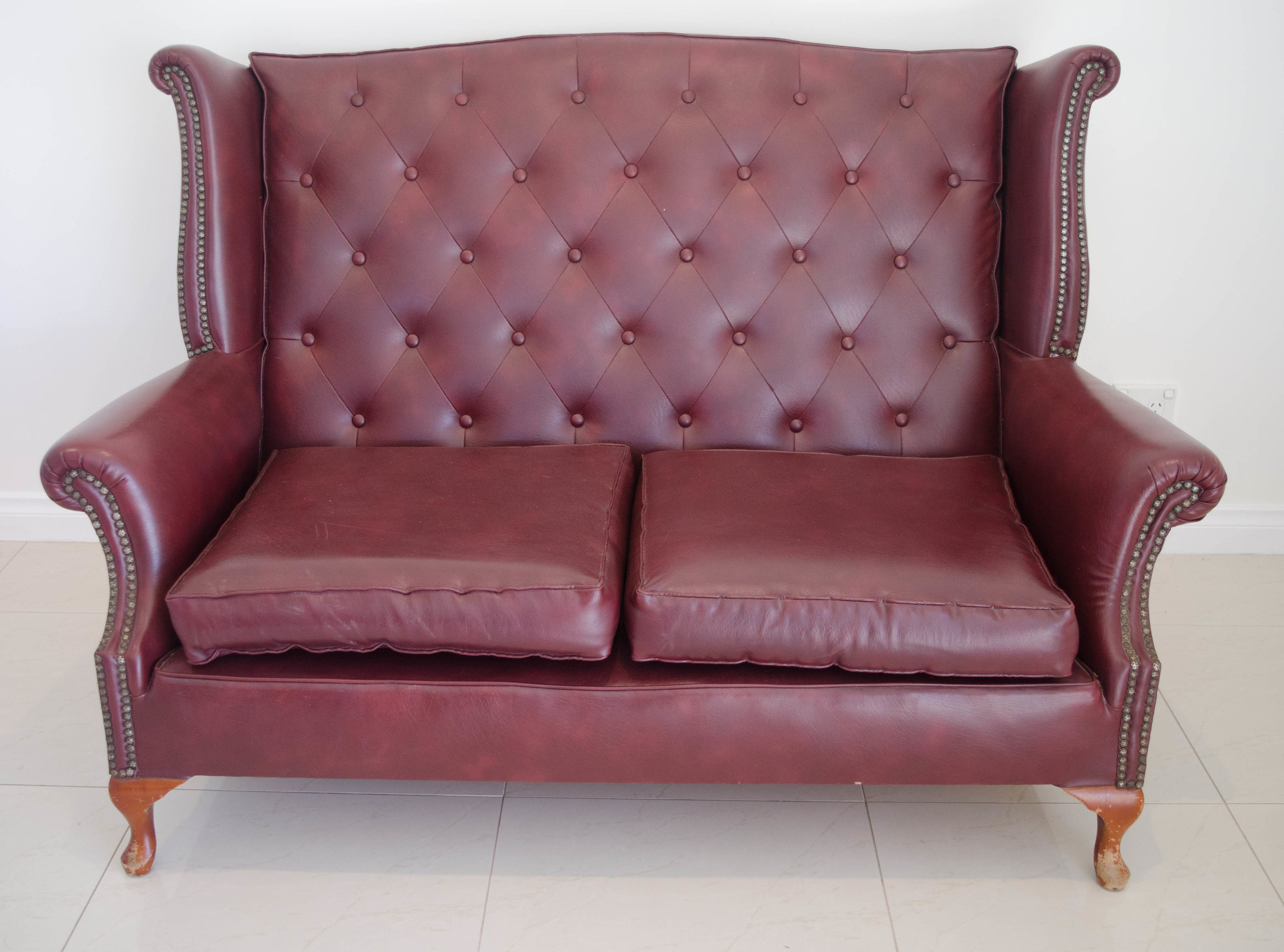 Chester Lounge burgundy    $150.00 + GST (3-DAY HIRE)                                            QUANTITY: 1